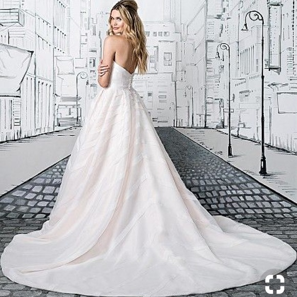 Justin Alexander Dresses | Ribbon Train Ball Gown Style 8880 | Poshmark